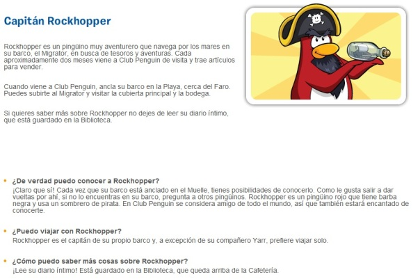 Descripcion de Rockhopper